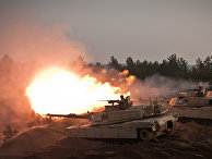 Танки «Абрамс» во время военных учений в Латвии