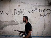 Боец Свободной сирийской армии в Алеппо, 2012 год