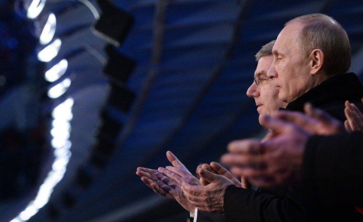 В.Путин на церемонии открытия ХХII зимних Олимпийских игр в Сочи