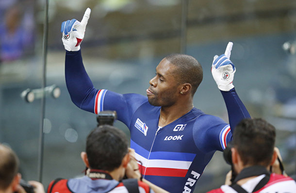 Французский велогонщик Грегори Боже