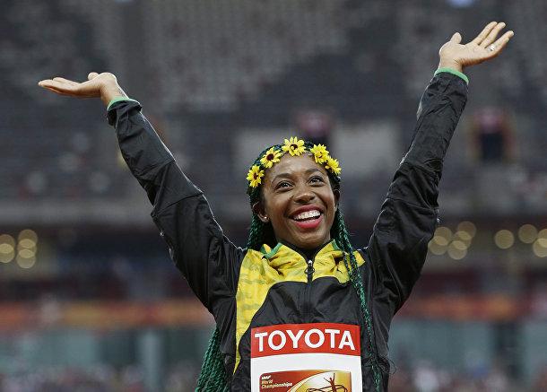 Ямайская спортсменка Шелли-Энн Фрейзер