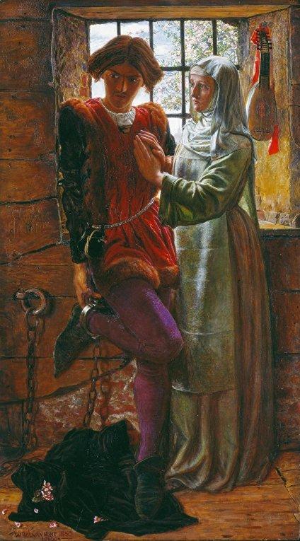 У. Хант. «Клавдио и Изабелла». 1850