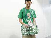 Бесплатная раздача презервативов в поликлинике Олимпийской деревне в Рио-де-Жанейро