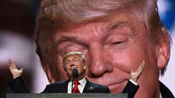 Кандидат в президенты от партии республиканцев Дональд Трамп