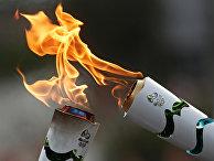 Факелы с Олимпийским огнем, штат Баия, Бразилия, 19 мая 2016
