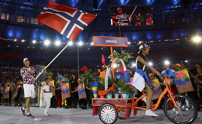 Норвегия на церемонии открытия Олимпийский игр в Рио-де-Жанейро