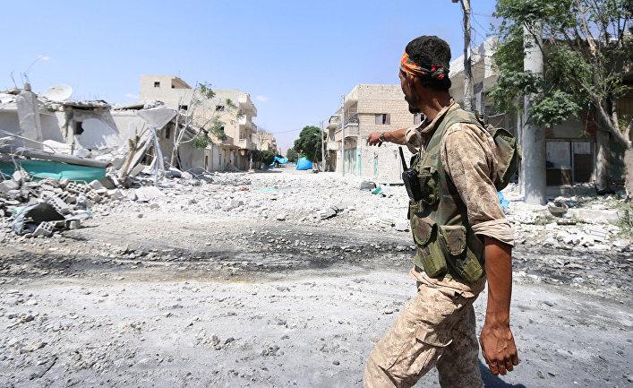 Сирийские боевики показали фото участка вАлеппо, где удалось прорвать блокаду города