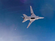 Нанесение авиаудара самолетами ТУ-22М3 по объектам террористов в Сирии