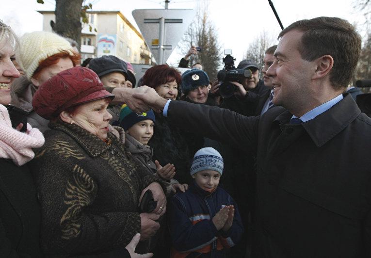 Рабочая поездка президента России в Дмитровский район