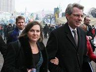 Заместитель госсекретаря США Виктория Нуланд и посол США в Украине Джеффри Пайетта встретились с лидерами украинской оппозиции