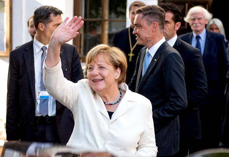 Канцлер Германии Ангела Меркель в Таллине, август 2016