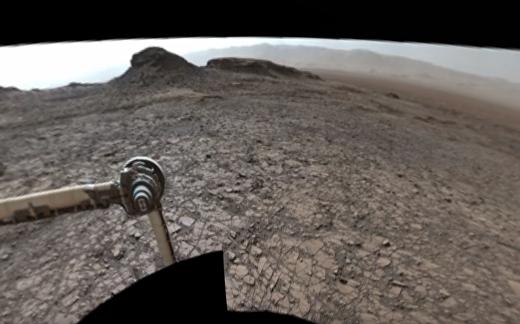 Панорама холмов на Марсе