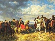 Встреча Яна Собеского и Леопольда I во время Венской битвы в 1683 году