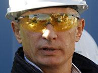 Владимир Путин посетил место строительства газопровода «Северный поток» в Финском заливе