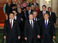 Лидеры G20 перед совместным фотографированием глав делегаций государств-участников
