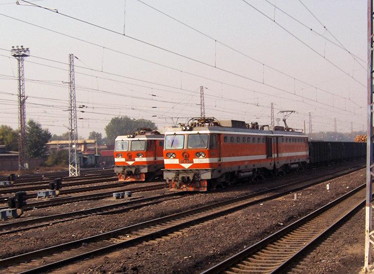 Товарные поезда в городе Датун