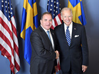 Премьер-министр Швеции Стефан Лёвен и вице-президент США Джо Байден