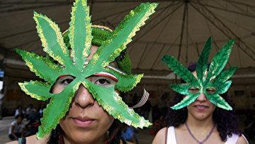 Акция в поддержку легализации марихуаны в Мехико