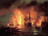Чесменский бой в ночь с 25 на 26 июня 1770 года
