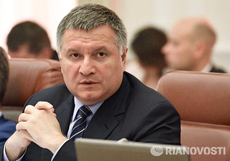 Министр внутренних дел Украины Арсен Аваков на заседании Кабинета министров Украины в Киеве