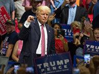 Кандидат в президенты США Дональд Трамп на предвыборном митинге