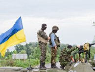 Украинские солдаты в окрестностях Славянска
