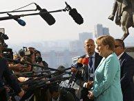 Канцлер Германии Ангела Меркель на саммите ЕС в Братиславе