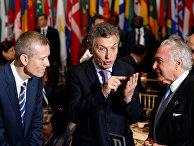 Президент Аргентины Маурисио Макри и президент Бразилии Мишел Темер во время Генеральной Ассамблеи ООН