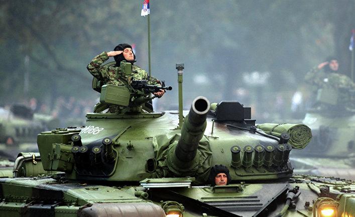 Военный парад в честь 70-летия освобождения Белграда