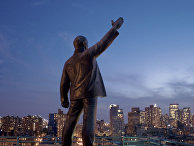 Статуя Ленина в районе Ист-Виллидж в Нью-Йорке, США