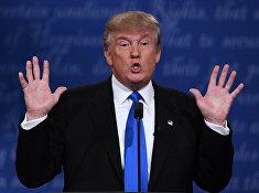 Кандидат в президенты США Дональд Трамп на дебатах