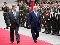 Президент Украины Петр Порошенко и президент Израиля Реувена Ривлина
