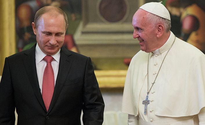 Путин поздравил Папу Римского сюбилеем ивыразил надежду наскорую встречу