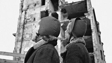 Дети вернувшиеся в Хельсинки после эвакуации во время финско-русской войны