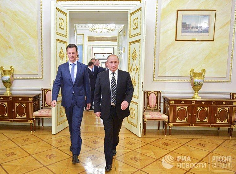 Президент России В.Путин встретился с президентом Сирии Б.Асадом