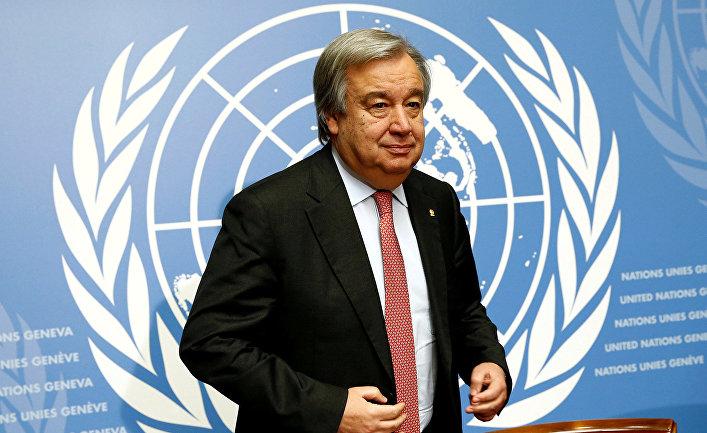 Путин поздравил Гутерриша сназначением генеральным секретарем  ООН ипожелал успехов вработе