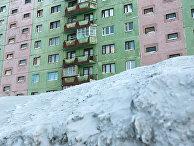 Снежный покров в Норильске