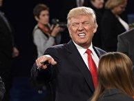 Дональд Трамп во время предвыборных дебатов