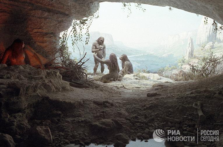 как пещерные люди ебались