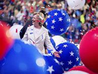 Кандидат в президенты США Хиллари Клинтон на съезде Демократической партии в Филадельфии