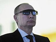 """Президент России Владимир Путин во время посещения Национального минерально-сырьевого университета """"Горный"""""""