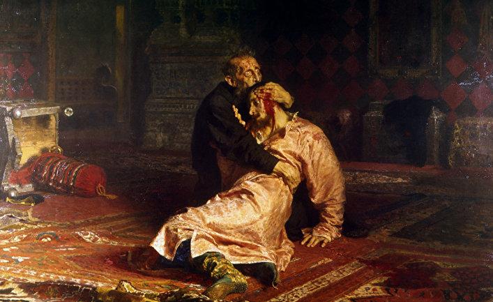 """Репродукция картины """"Иван Грозный и сын его Иван 16 ноября 1581 года"""""""