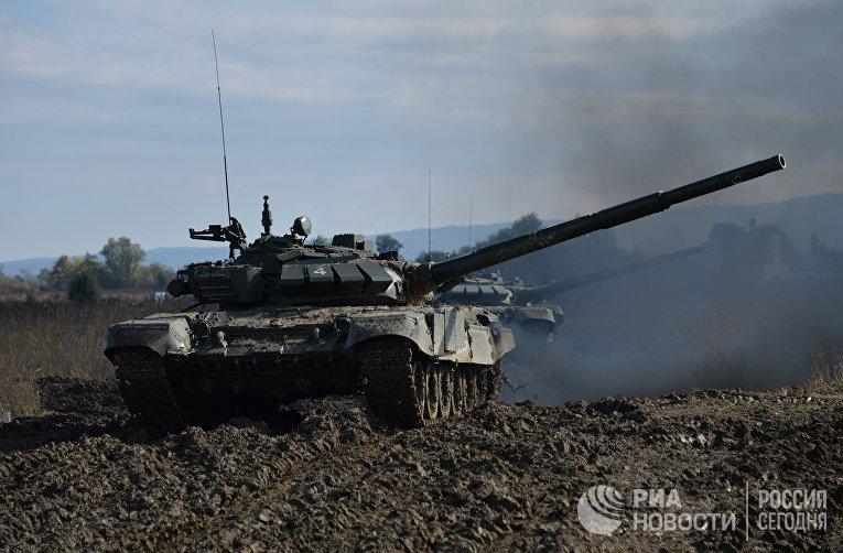 Танк Т-72Б3 мотострелковой бригады 58-й армии