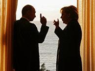 Встреча президента России и Канцлера Германии в Сочи