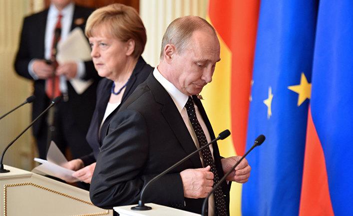 Меркель устало повторила Путину, что ему сделать для снятия санкций