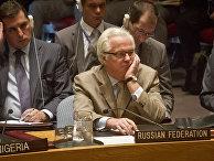 Виталий Чуркин на заседании Совета безопасности ООН