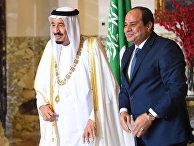 Президент Египта Абдул-Фаттах Халил Ас-Сиси и король Саудовской Аравии Салман в Каире