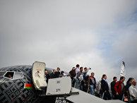 Пассажиры самолета авиакомпании «Белавиа»