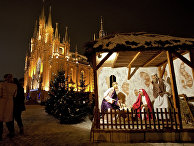 Рождественская месса в католическом соборе