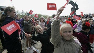 Празднование Дня Победы в Риге